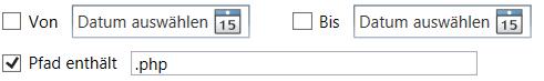 Security-Tool Hacking-Logger: Beschränken Sie die Ausgabe auf einen bestimmten Dateityp (hier: PHP)