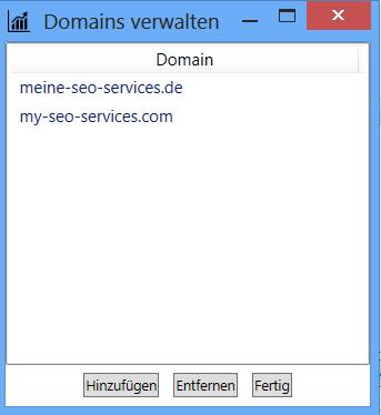 In einem Projekt können auch mehrere Domains auf einmal beobachtet werden.