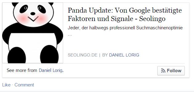 Facebook-Author Tag
